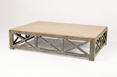 LARGE RECTANGULAR COFFEE TABLE