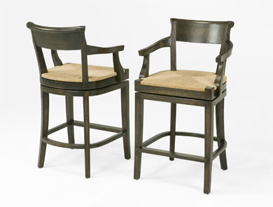 English Square Swivel Barstool With Arms Counters Image Of 6846