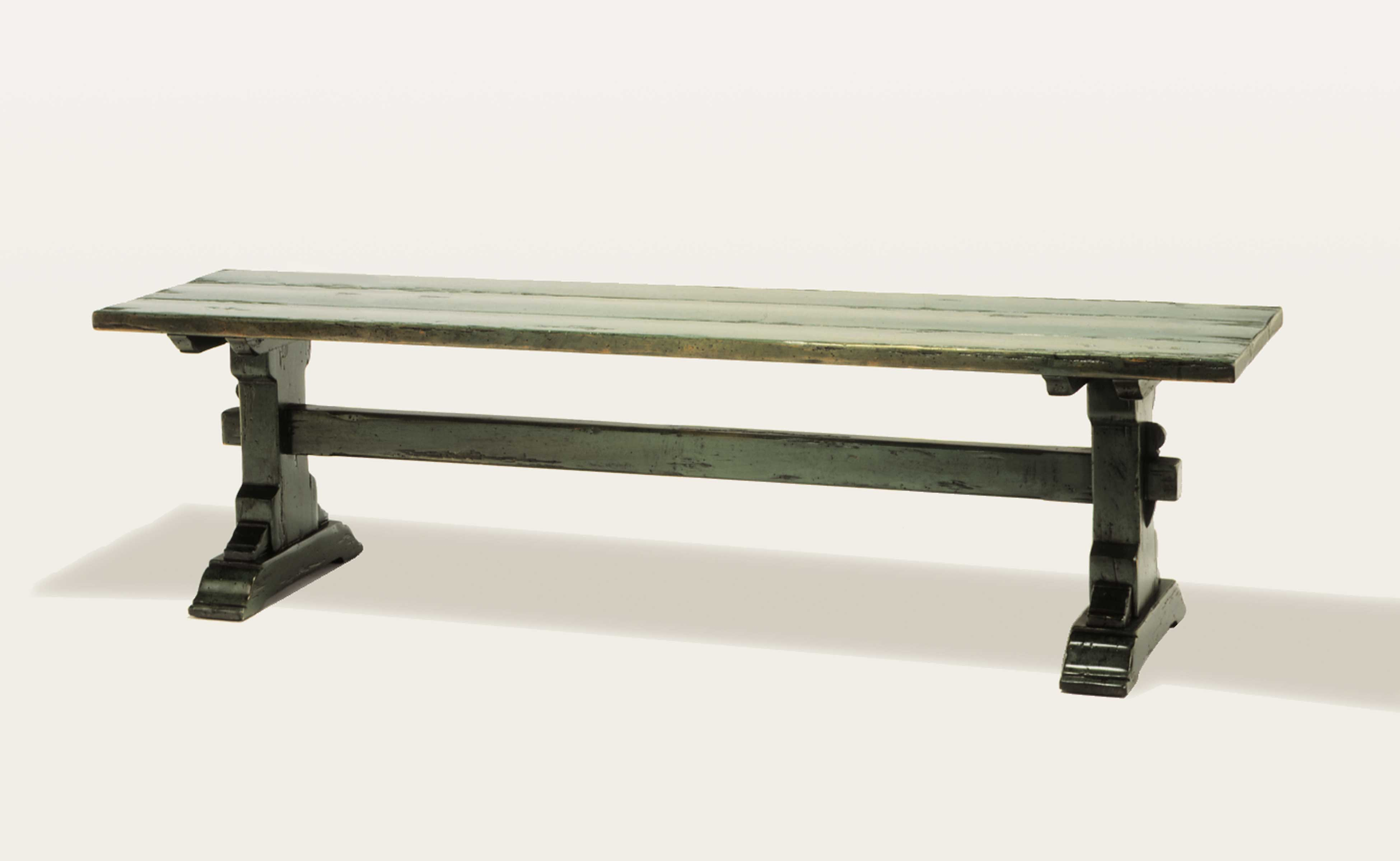 dining bench brn products table madison furnishings trestle bandera creek
